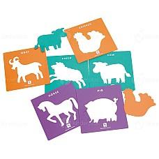 Шаблони Животните от фермата 6 бр