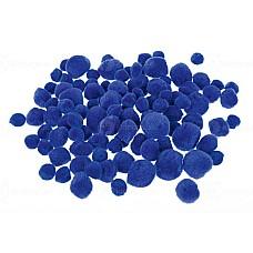 Помпони 100 бр сини