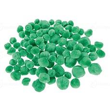 Помпони 100 бр зелени