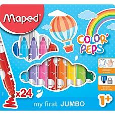 Флумастери  за малки деца Maped 18 цвята