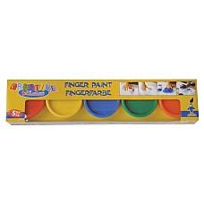 Боя за рисуване с пръсти 5 цвята х 80ml