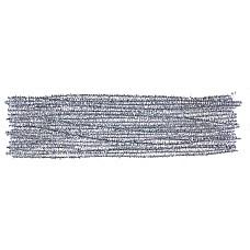 Гъвкав плюшен шнур - брокат сребърен