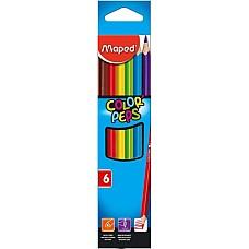 Цветни моливи Maped 6 цвята