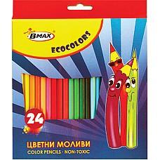 Цветни моливи ECOCOLOR 24 цвята