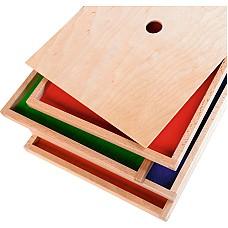 4 цветни дъски за занимания с пясък -