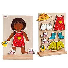 Лиза се облече - магнитна дървена игра
