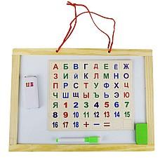 Дъска магнитна с цифри и букви кирилица