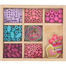 Дървени мъниста в кутия - Дървени играчки