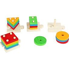Пъзел с пръчици 1 до 4, Дървени играчки