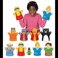 Комплект за театър с кукли Пинокио и Грозното патенце