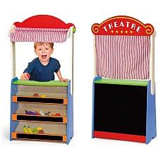 Детски дървен магазин и театър