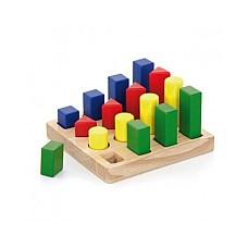 Последователни блокчета с форми 16 части