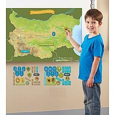 Детска магнитна карта на България