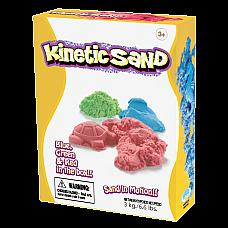 Кинетичен пясък 3 кг. три цвята