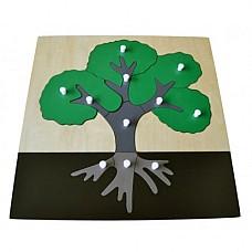 Монтесори пъзел Дърво