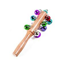 Звънчета разноцветни с дървена дръжка