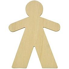 Етно дървена фигура Момче