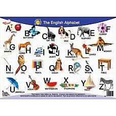 """Настолно ламинирано табло """"The English Alphabet"""""""